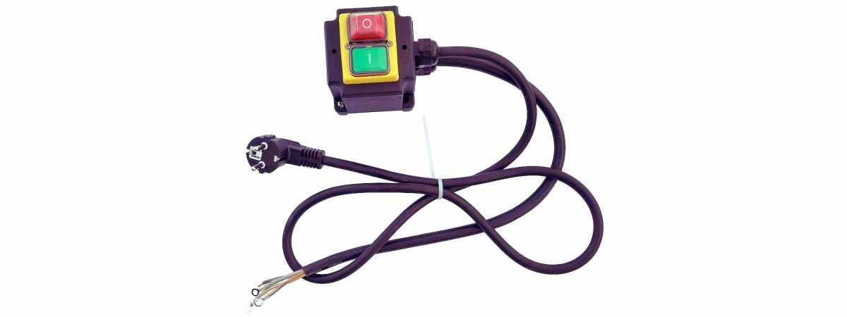 Запчасть бетономешалки пускатель с кабелем и вилкой БС-315 (220в)