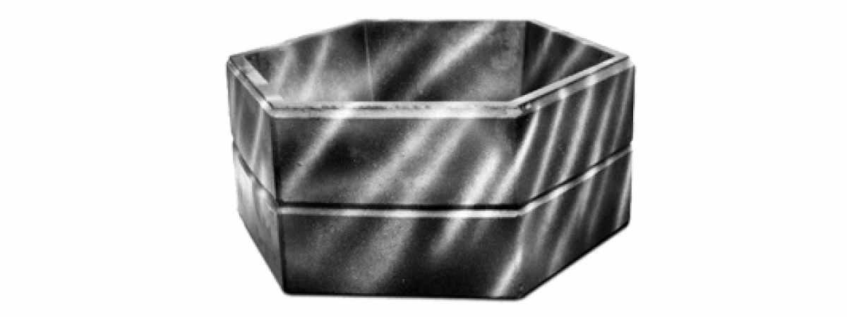 """Форма Стеклопластиковый цветочник """"Каскад"""" Размеры H-290 x Ø-800 мм"""