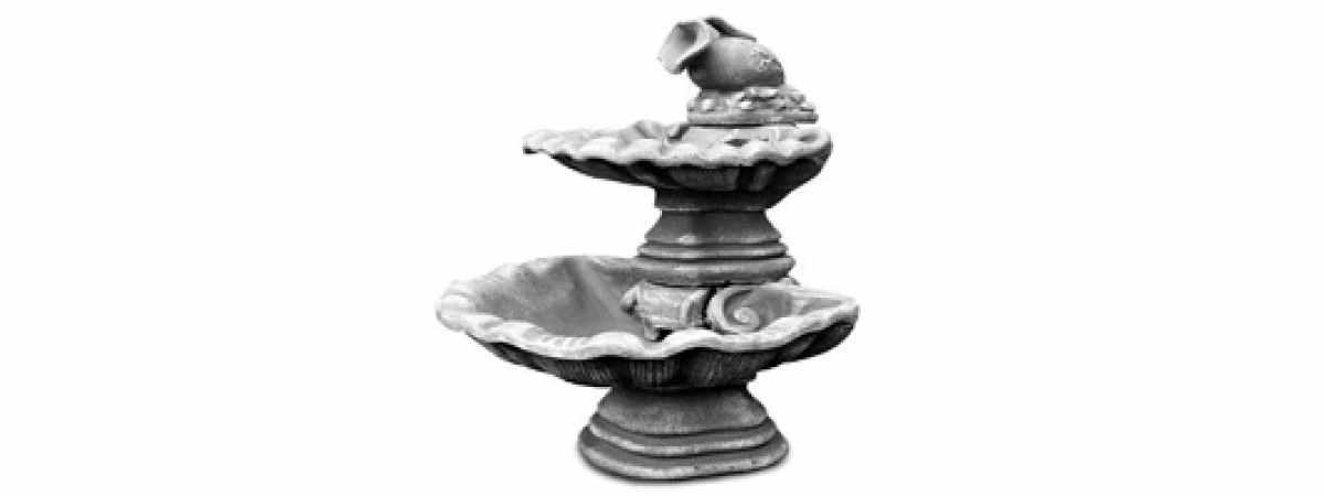 Форма Стеклопластиковый фонтан с кувшином Размеры 1100 мм