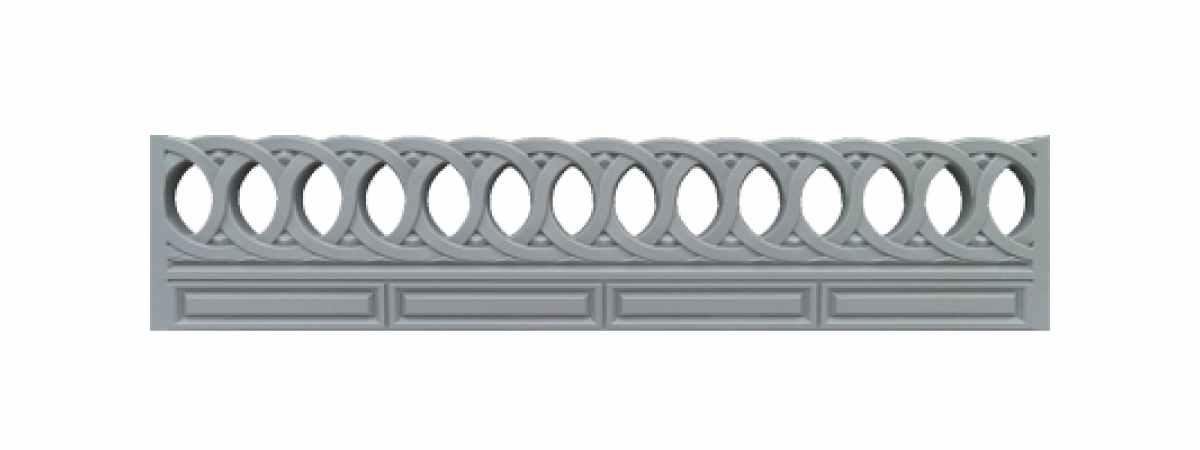 Формы заборов стеклопластиковые №В-53 Размеры 2000х500х40 мм