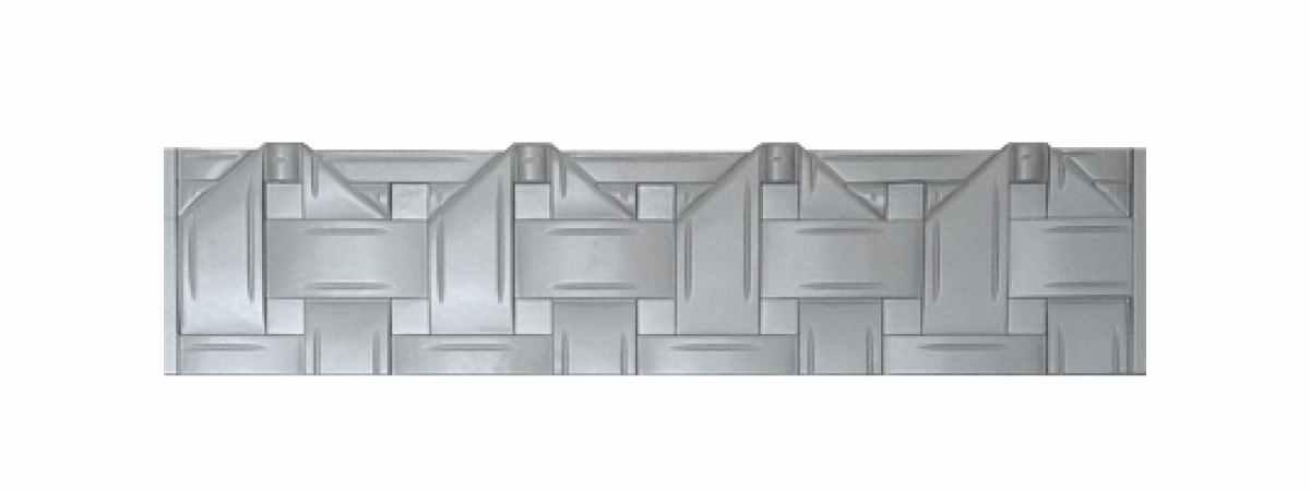 Формы заборов стеклопластиковые №В-49-а Размеры 2000х500х40 мм