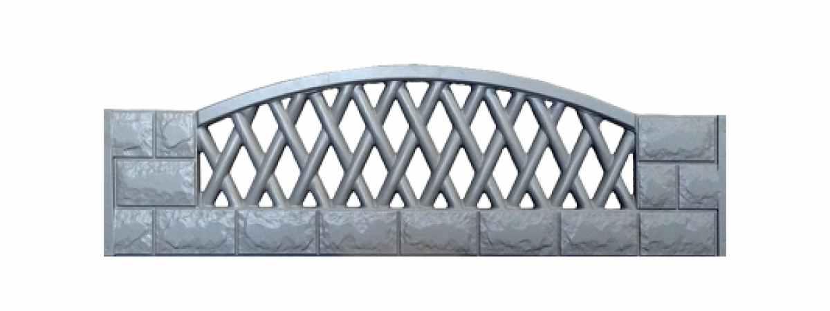 Формы заборов стеклопластиковые №В-1 Размеры 2000х500х40 мм
