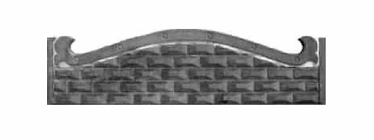 Формы заборов стеклопластиковые №1 Размеры 2000х500х40 мм