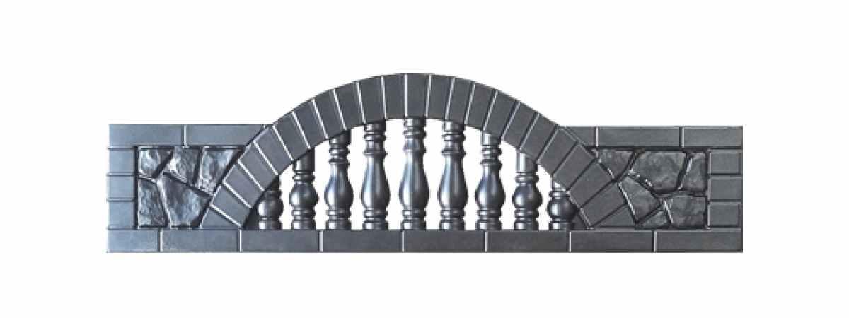 Формы заборов стеклопластиковые №6 Размеры 2000х500х40 мм