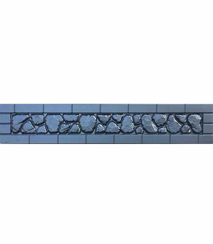 Формы заборов стеклопластиковые №В-79 Размеры 2000х300х40 мм