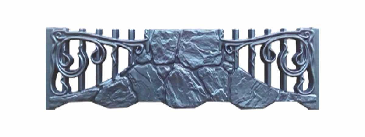 Формы заборов стеклопластиковые №174 Размеры 2000х500х40 мм
