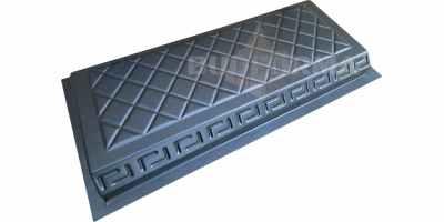 Форма для бордюра Греция №11 Размеры 500х200х45 мм