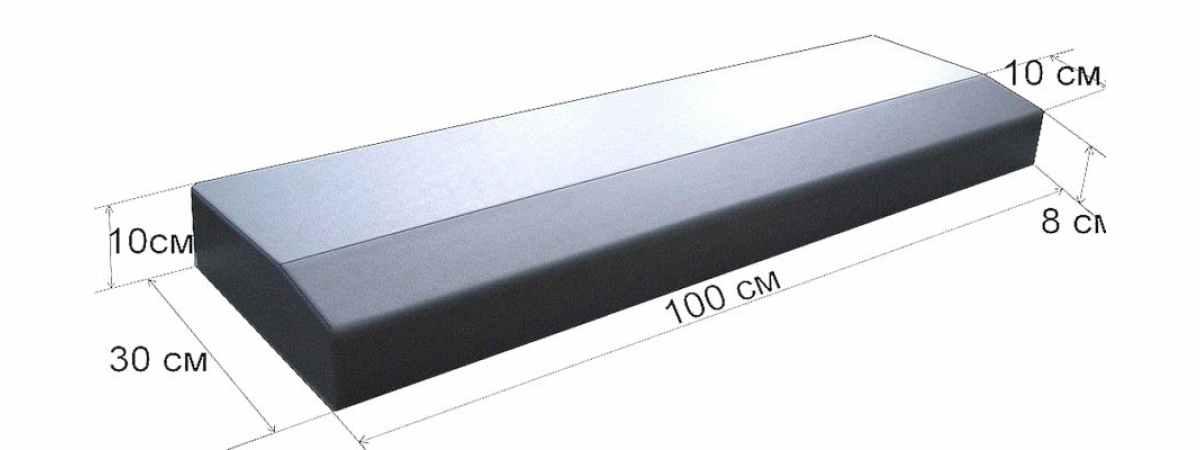 Форма для бордюра Дорожный №2 Размеры 1000х300х100 мм