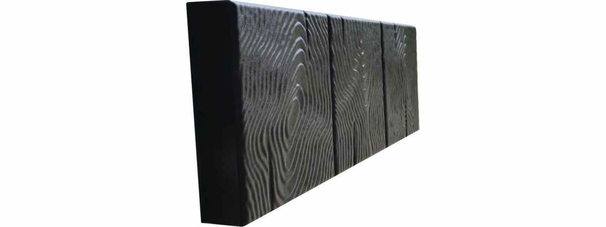 Форма для бордюра Дерево №8 Размеры 500х250х50 мм