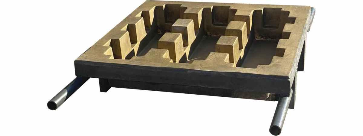 Форма стеклопластиковая для плиты газонной Размеры 500х500х100 мм