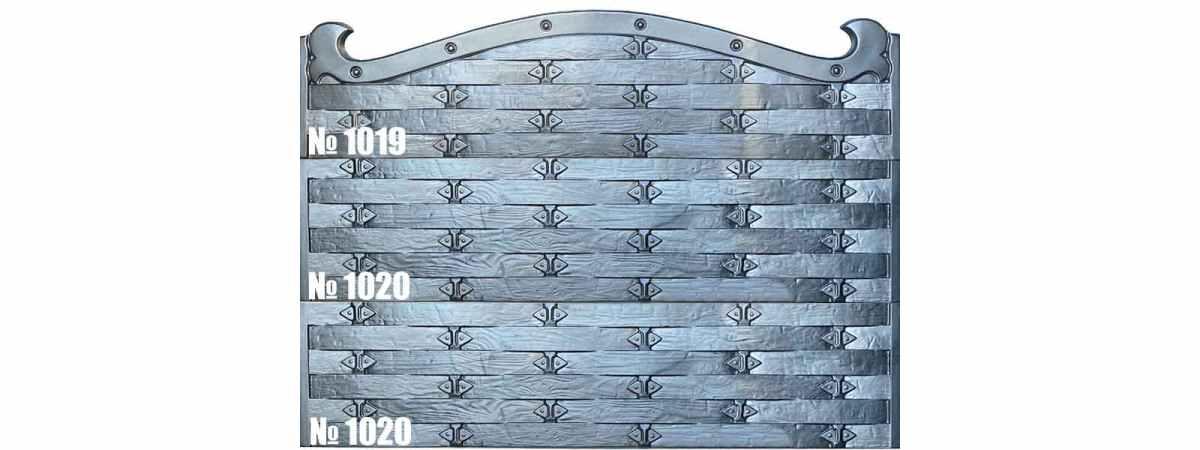 Форма для забора АБС №1019 Размеры 2000х500х40 мм