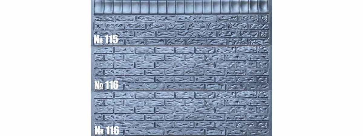 Форма для забора АБС №116 Размеры 2000х500х40 мм