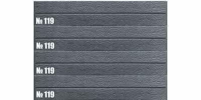 Форма для двустороннего забора АБС №119 пара Размеры 2000х250х25 мм