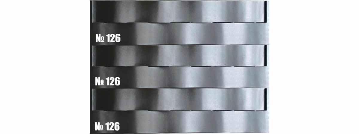 """Форма для забора """"Фаина"""" АБС №126 Размеры 2000х500х40 мм"""