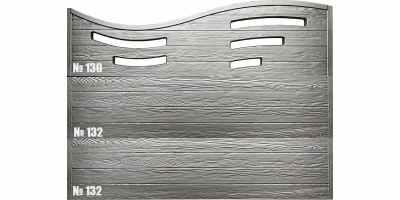 Форма для забора Калипсо оригинал АБС №130 Размеры 2000х600х40 мм