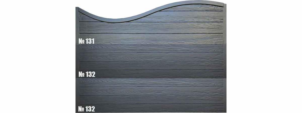 Форма для забора Калипсо верхушка оригинал АБС №131 Размеры 2000х500х40 мм