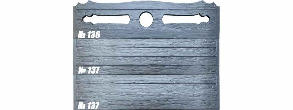 """Форма для забора """"Дерево антик"""" АБС №136 Размеры 2000х500х40 мм"""
