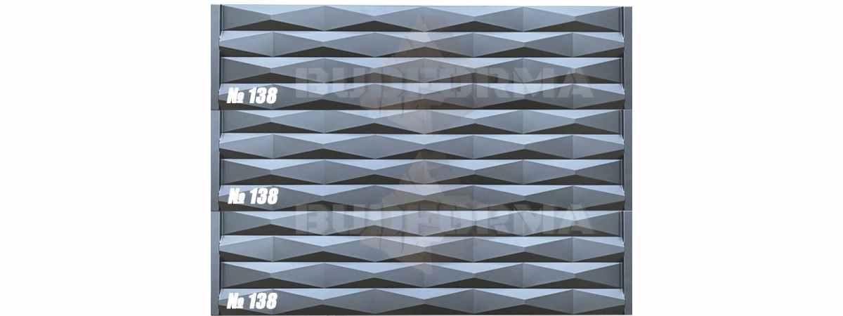 "Форма для забора ""Пирамида"" АБС №138 Размеры 2000х500х40 мм"
