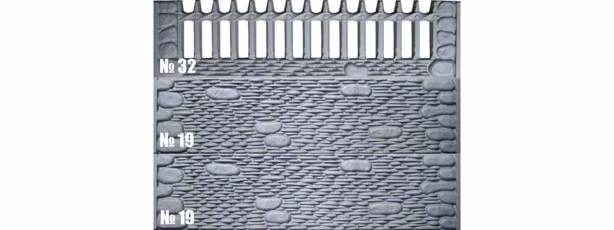 Форма для забора АБС №32 Размеры 2000х500х40 мм