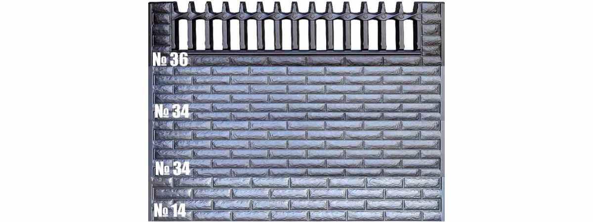 Форма для забора АБС №36 Размеры 2000х500х40 мм