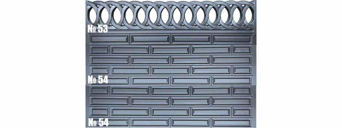 Форма для забора АБС №54 Размеры 2000х500х40 мм