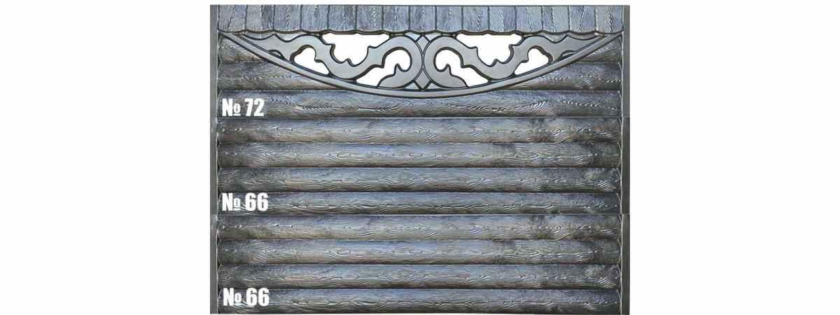 Форма для забора АБС №66 Размеры 2000х500х40 мм