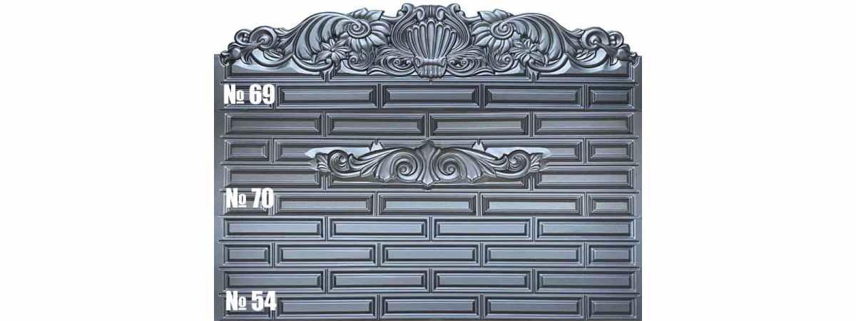 Форма для забора АБС №70 Размеры 2000х500х40 мм