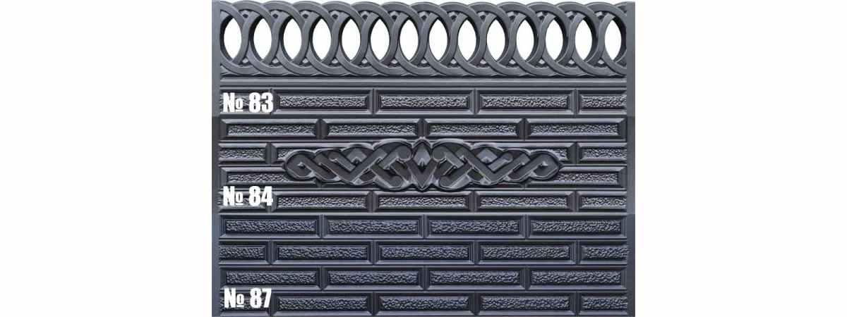 Форма для забора АБС №83 Размеры 2000х500х40 мм