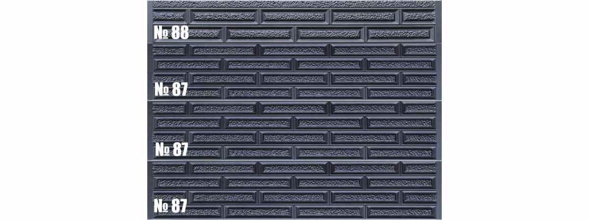 Форма для забора АБС №88 Размеры 2000х300х40 мм