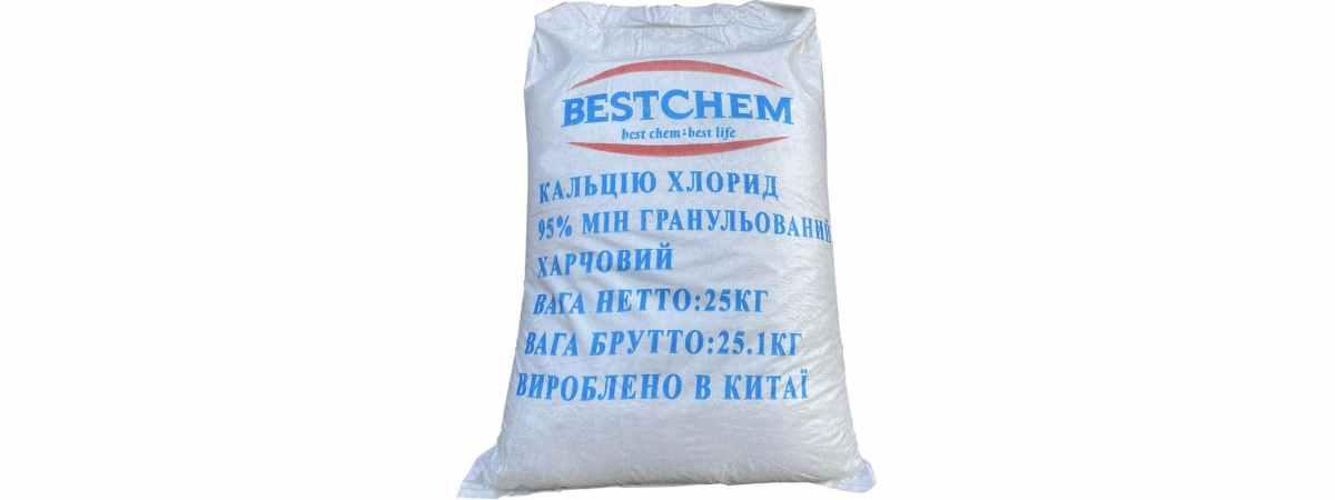 Хлористый кальций BESTCHEM Вес 25 кг