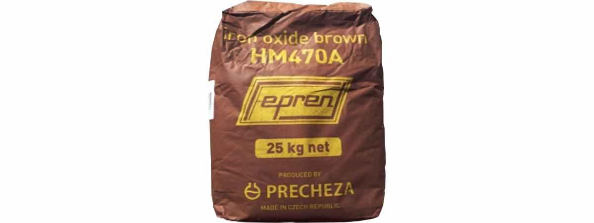 Пигмент для бетона Коричневый HM-470A Чехия Fepren Вес 25 кг