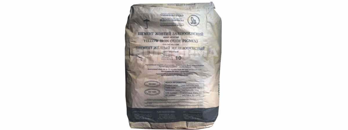 Пигмент для бетона Желтый Ж-1 Украина Вес 10 кг