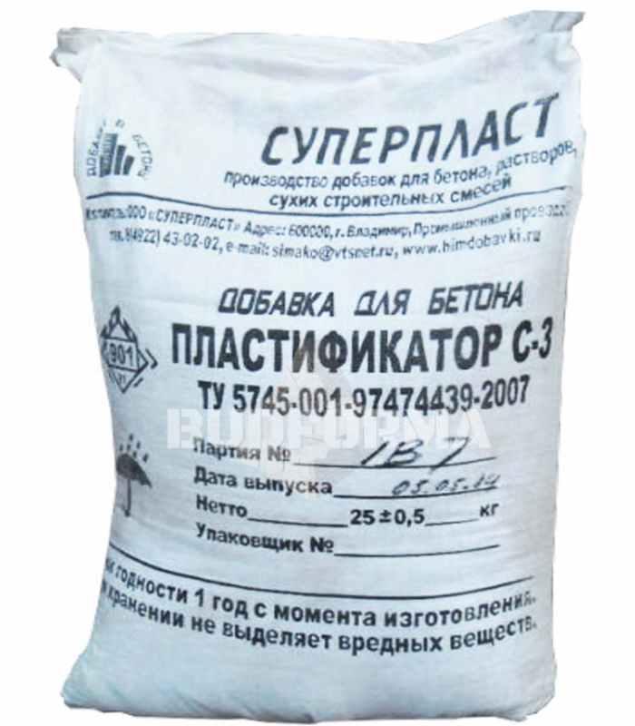 Пластификатор для бетона С-3 (СП-1)