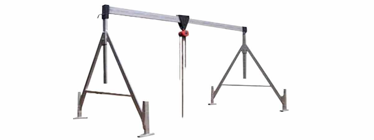 """Форма для бетонного кольца """"Кран козловой"""" до 3000 кг Высота до балки 3,5 м"""