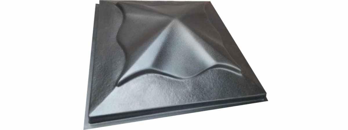 """Форма для крышки столба """"Медуза"""" Размеры 450х450х110 мм"""
