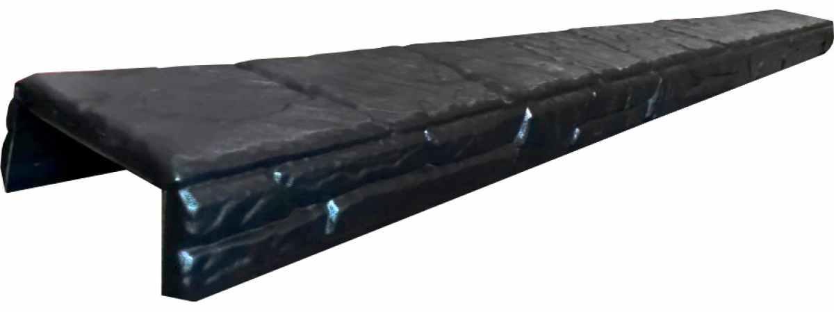 """Форма для накрытия забора """"Гребень сланец"""" распашная №3 Размеры 1920х150х60 мм"""
