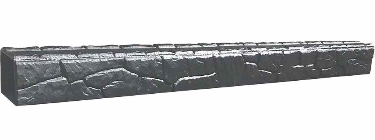 """Форма для подставки под забор-цоколь """"Сланец"""" распашная №3 Размеры 1920х130хH-130 мм"""