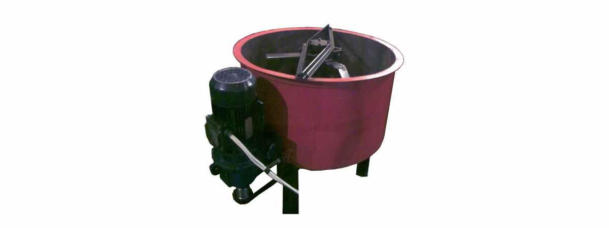 Бетоносмеситель принудительный РПП-200 (220 Вт) Общий объём 200 л