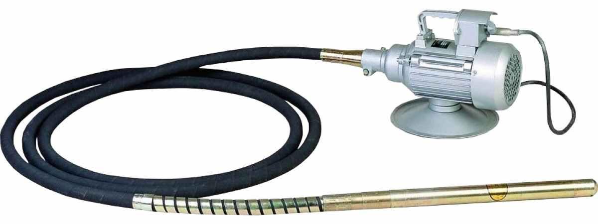 Вибратор глубинный BVR-500 Мощность 1.1 кВт длина всей трансмиссии 4400 мм
