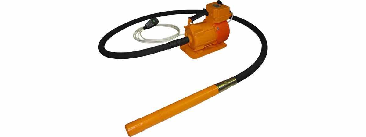 Вибратор глубинный ЭПК-1300, 76 Мощность 1.4 кВт длина всей трансмиссии 3500 мм