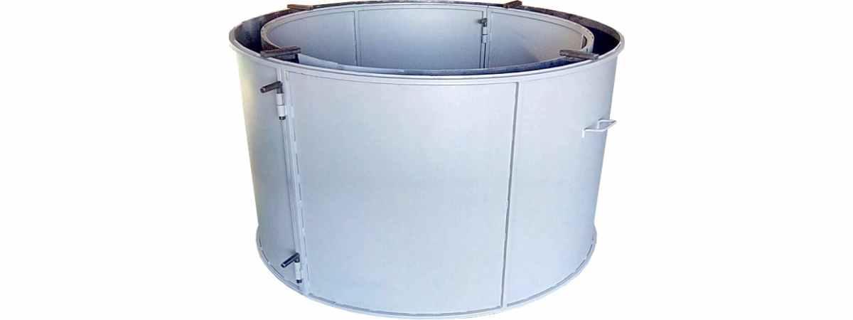 Форма кольца колодезного №7 стенка 2 мм, профильная труба 20х20 Размеры 1700/1500/890 мм
