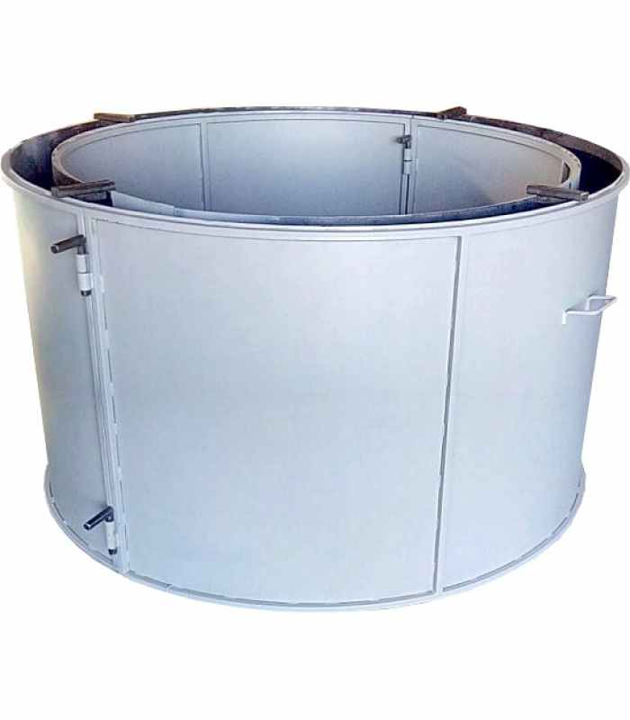 Форма кольца колодезного №8 стенка 4 мм, профильная труба 40х40 Размеры 2200/2000/890 мм
