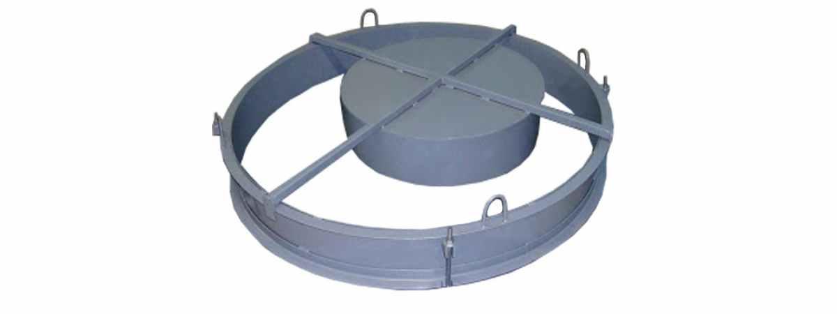 Форма для производства крышки и днища бетонных колец Размеры 700х800х70 мм