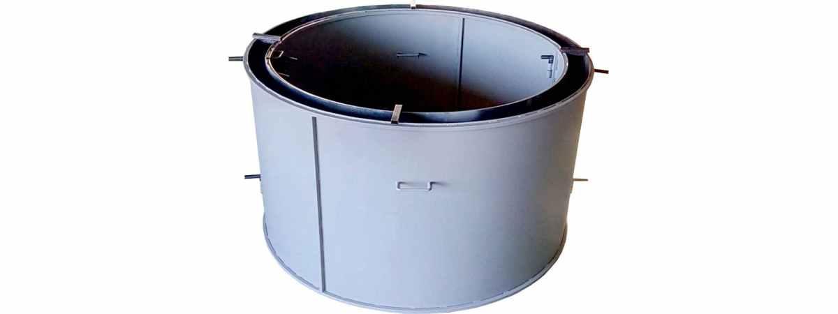 Форма кольца колодезного №2 стенка 2 мм, профильная труба 20х20 Размеры 740/600/890 мм