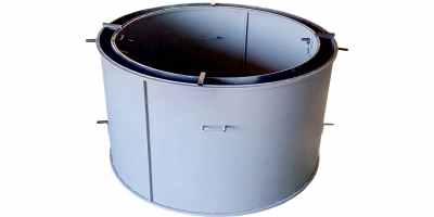 Форма кольца колодезного №6 стенка 4 мм, профильная труба 40х40 Размеры 1380/1200/890 мм