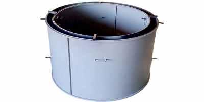 Форма кольца колодезного №8 стенка 2 мм, профильная труба 20х20 Размеры 2200/2000/890 мм