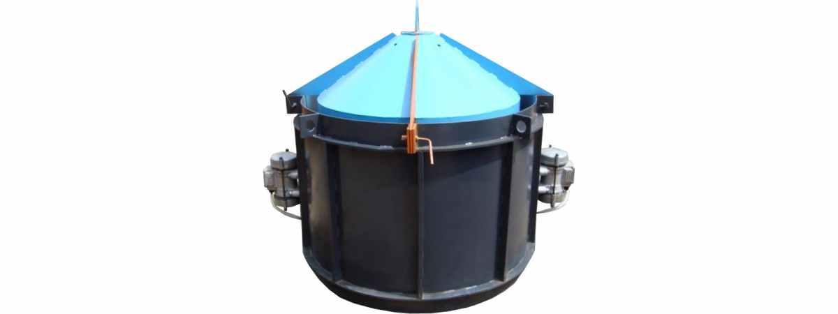 Виброформа -1000 усиленная (стенка 4 мм) с ИВ-99 Размеры 1160/1000/890/80 mm