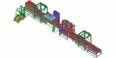Линия для производства бетонных заборов