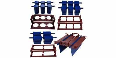 Станок для производства шлакоблоков СШ-2Н Габариты 750х440х1200 мм