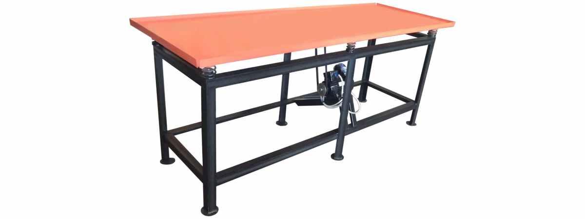 Вибростол для производства заборов и тротуарной плитки ВС-2100-220 Размеры 2100х800х800 мм